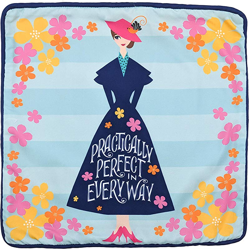 Jay Franco Mary Poppins Perfect Decorative Pillow Cover Kids Super Soft 1 Pack Throw Pillow Cover Measures 15 Inches X 15 Inches Official Product