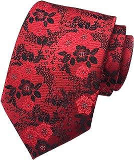 Men's Silk Tie Cravat Jacquard Luxury Floral Pattern Wedding Necktie