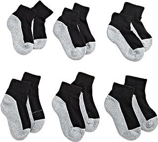 Jefferies Socks Boys' Seamless Quarter-Height Half Cushion Socks (Pack of 6)