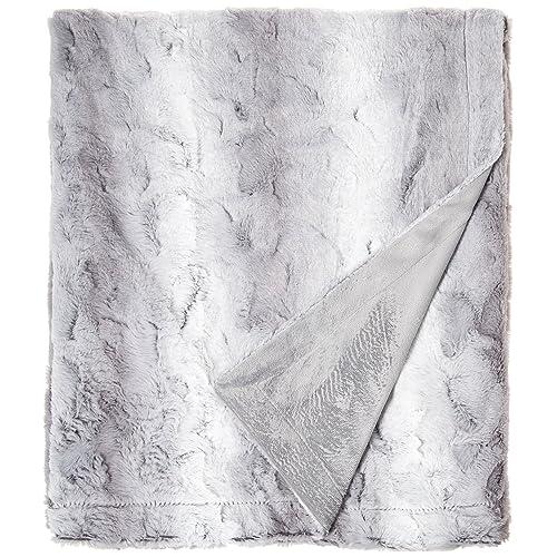 Zuri Oversized Faux Fur Throw Grey 60x70