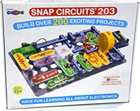 Snap Circuits 203 Electronics Exploration Kit | Over 200 STEM Projects | 4-Color Project Manual | 42 Snap Modules | Unlimi...