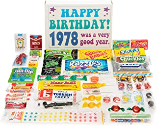 Woodstock Candy ~ 1978 41st Birthday Gift Box Nostalgic Retro Candy Assortment from Childhood for 41 Year Old Man or Woman Born 1978
