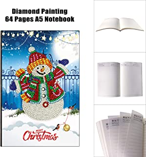 Diamond Painting Notebook Daily Plan Book Journal for Journaling Writing Note Embroidery Diamond Cross Stitch Craft Christmas Gifts-64 Sheets A5 /5.6X8.1inch (Snowman)