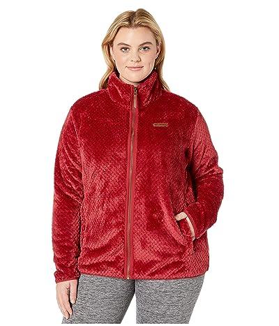 Columbia Plus Size Fire Sidetm II Sherpa Full Zip (Beet) Women