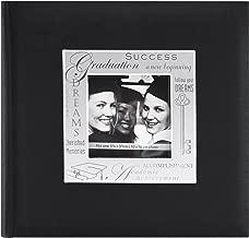 MBI 9x9 Inch Fabric Expressions Graduation Theme Album, Black (846615)