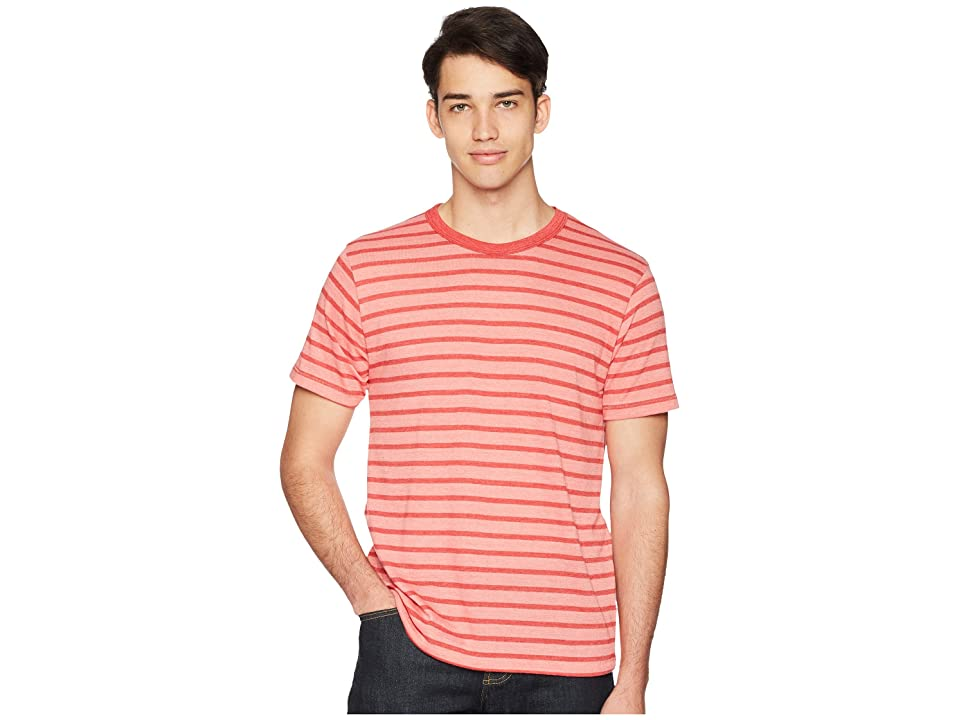 Alternative Eco Crew (Spiced Coral Overdye Riviera Stripe) Men