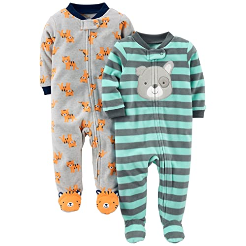 99f8a75fe6 Simple Joys by Carter s Baby Boys  2-Pack Fleece Footed Sleep ...