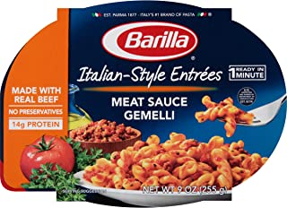 Barilla Italian-Style Entrees, Meat Sauce Gemelli, 9 Ounce (Pack of 6)