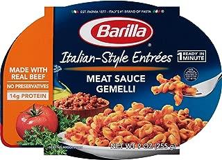 Barilla Italian-Style Entrees, Meat Sauce Gemelli, 9 Ounce