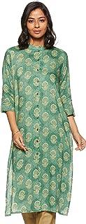 Aalia Women's Rayon Straight Kurta