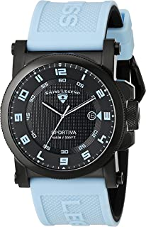 Swiss Legend Men's 40030-BB-01-BBLAS Sportiva Analog Display Swiss Quartz Blue Watch