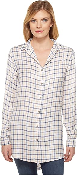 Magnolia Tunic in Rayon Plaid