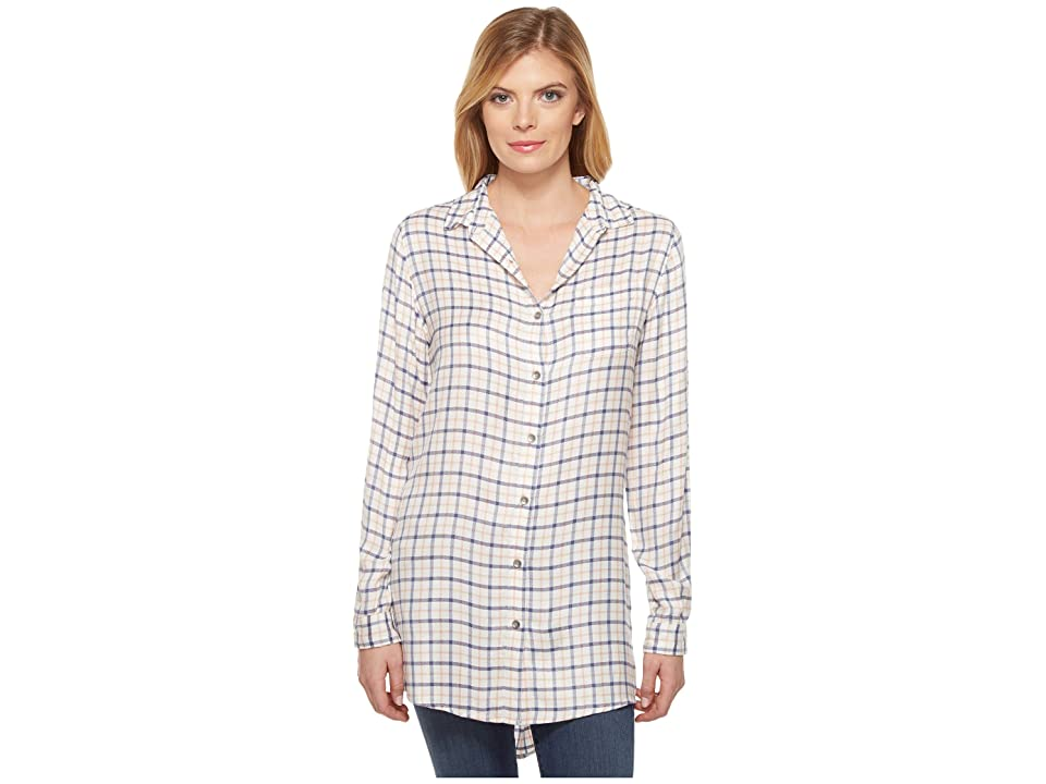 Jag Jeans Magnolia Tunic in Rayon Plaid (Ivory Plaid) Women