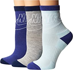 Nike - Sportswear Striped Low Crew 3-Pair Socks