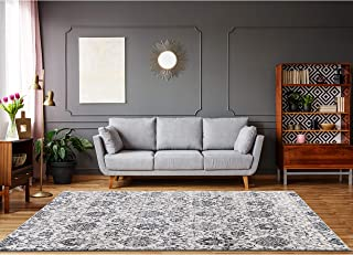 Cream Grey Area Rugs 5 x 7 by LOOM&WEAVE for Living Room, Bedroom, Dining Room, Kitchen and Kids Playroom - Instantly Transform Your Modern, Farmhouse, Shabby Chic or Bohemian Home Décor (MOR)