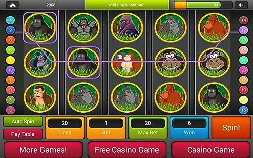 『ゴリラの王国スロット - ラスベガスファンタジースロットマシンゲーム無料プレイ』の5枚目の画像