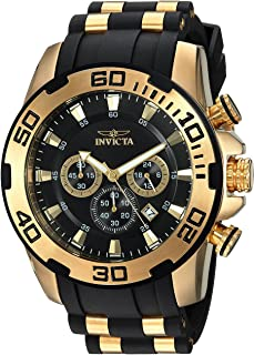 Men's Pro Diver Scuba 50mm Gold Tone Stainless Steel and...