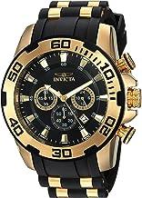 Invicta Men's Pro Diver Stainless Steel Quartz Watch with Silicone Strap, Black, 25 (Model: 22340)