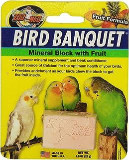 Zoo Med 26384 Bird Banquet Fruit Mineral Block, 1 Oz/Small
