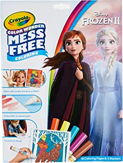 Crayola Frozen Color Wonder Coloring Book & Markers, Mess Free Coloring, Gift for Kids, Age 3, 4, 5, 6 (Styles May Vary)