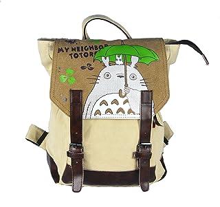 Mochila de Lino de Totoro con Compartimiento Interior Espacioso