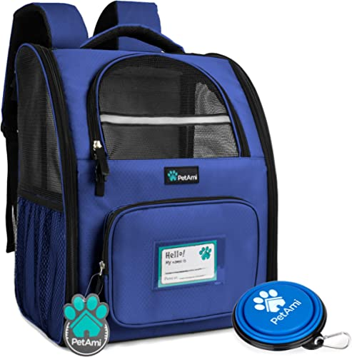 PetAmi Deluxe Pet Carrier Backpack for Small Cats and Dogs, Puppies | Ventilated Design, Two-Sided Entry, Safety Feat...