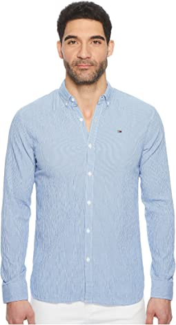 Seersucker Button Down Shirt