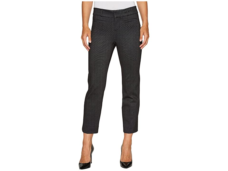 Liverpool Vera Crop Flare Trousers with Welt Pockets in Mini Check Ponte Knit (Black) Women