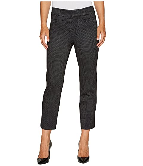 333c3c69397e5 Liverpool Vera Crop Flare Trousers with Welt Pockets in Mini Check Ponte  Knit