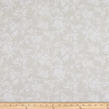 Robert Kaufman Farmhouse Rose Toile Flowers Ivory, Fabric by the Yard
