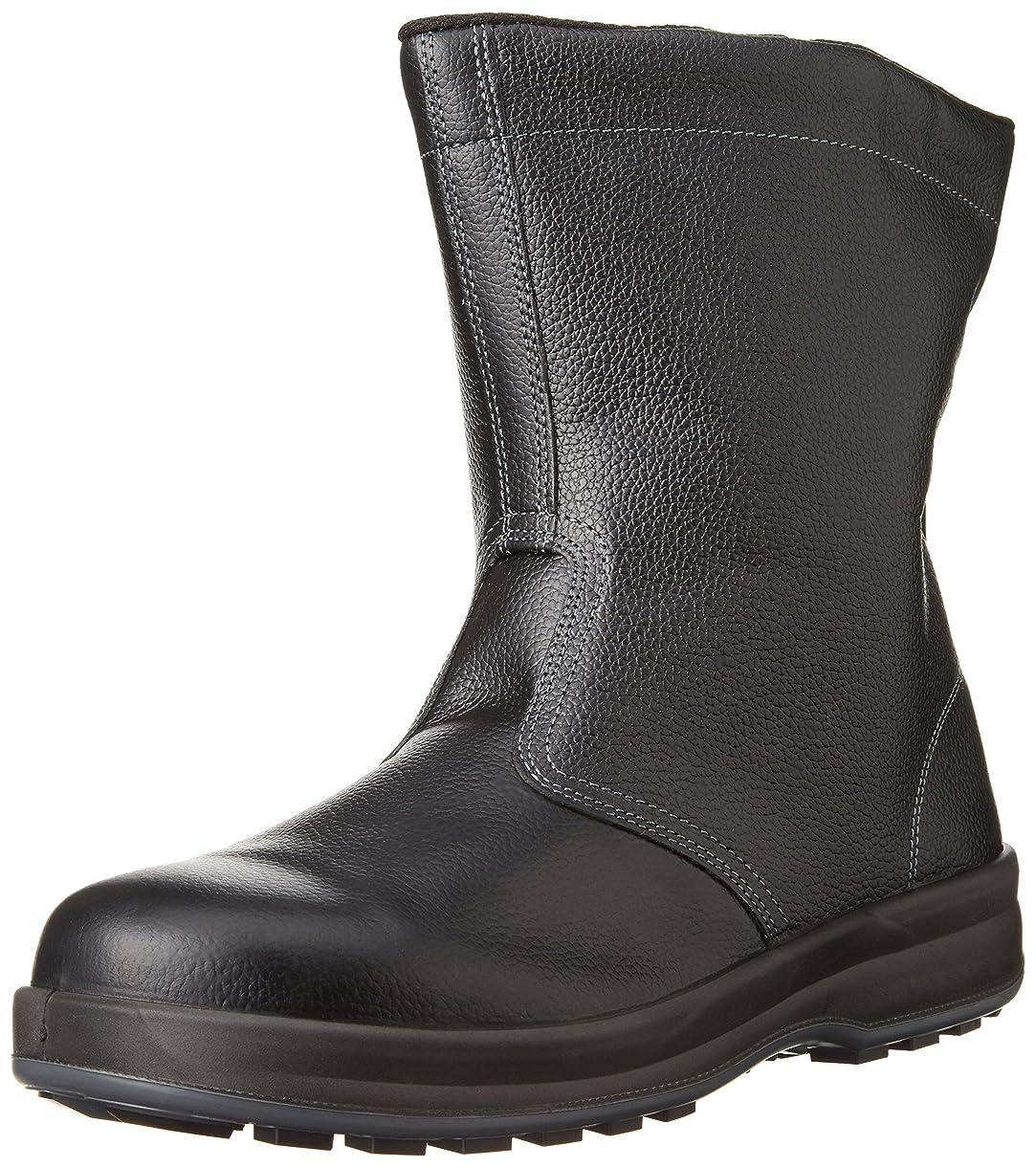 ダルセット狼照らす[シモン] 安全靴 半長靴 JIS規格 耐滑 快適 軽快 長靴 WS44黒