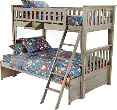 Night & Day Furniture Sailboat Bunked Bed, Twin/Full, Brushed Driftwood