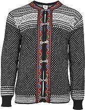 DALE OF NORWAY Men's Setesdal Unisex Jacket F-Black/Off-White Large