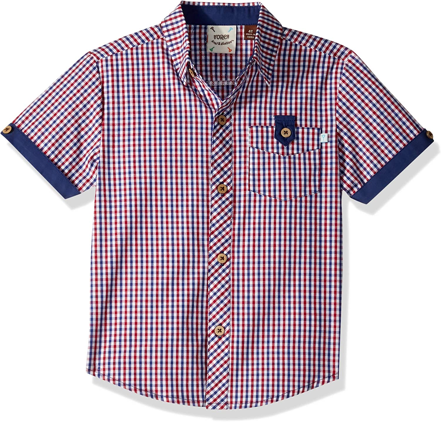 low-pricing NEW before selling Fore Axel Hudson Boys' Red Checked 4T Shirt