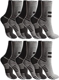 BestSale247, 6 o 12 pares de calcetines térmicos para hombre, cálidos, gruesos, para invierno, para esquí, trabajo o trabajo