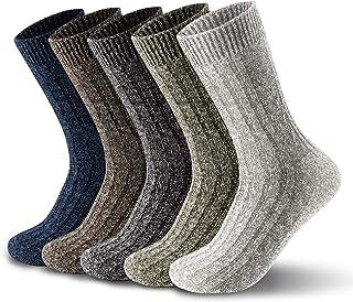 5 Pairs of Mens Thick & Warm Wool Socks(Size: UK 7-12 EU 40-46.5)