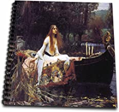 3dRose db_130185_1 Lady of Shallot by John William Waterhouse-Drawing Book, 8 by 8-Inch