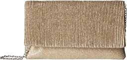 Priscilla Lurex Pleated Flap Clutch