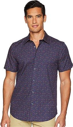 Short Sleeve Micro Floral Print Shirt