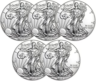2019 American Silver Eagle Five Coins Brilliant Uncirculated