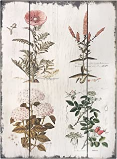 Barnyard Designs Vintage Florals Botanical Wood Plaques, Primitive Country Farmhouse Home..