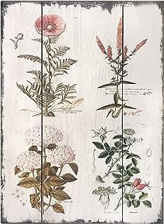 Barnyard Designs Vintage Florals Botanical Wood Plaques, Primitive Country Farmhouse Home Decor Sign 16