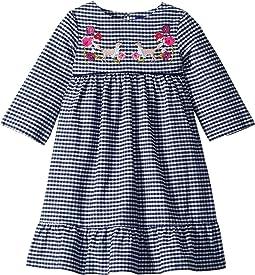 Printed Peplum Frill Dress (Toddler/Little Kids)