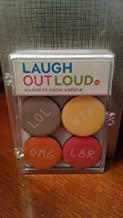 Laugh Out Loud Magnets from Lucy Lu - Set of 4: LOL, WTF, OMG and L8R