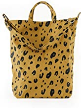 BAGGU Duck Bag Canvas Tote, Essential Everyday Tote, Spacious and Roomy, Leopard