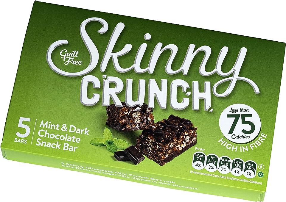 Mint Skinny Crunch Snack Bars Less Than 75 Calories (10 x 5 x 19g) 50 Bars