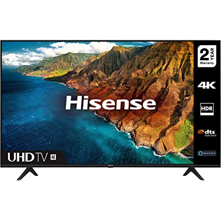 HISENSE 43AE7000FTUK 43-inch 4K UHD HDR Smart TV with Freeview play, and Alexa Built-in (2020 series) [Amazon Exclusive], Black