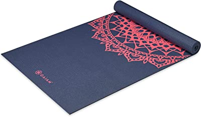 """Gaiam Yoga Mat - Classic 4mm Print Thick Non Slip Exercise & Fitness Mat for All Types of Yoga, Pilates & Floor Workouts (68"""" x 24"""" x 4mm)"""