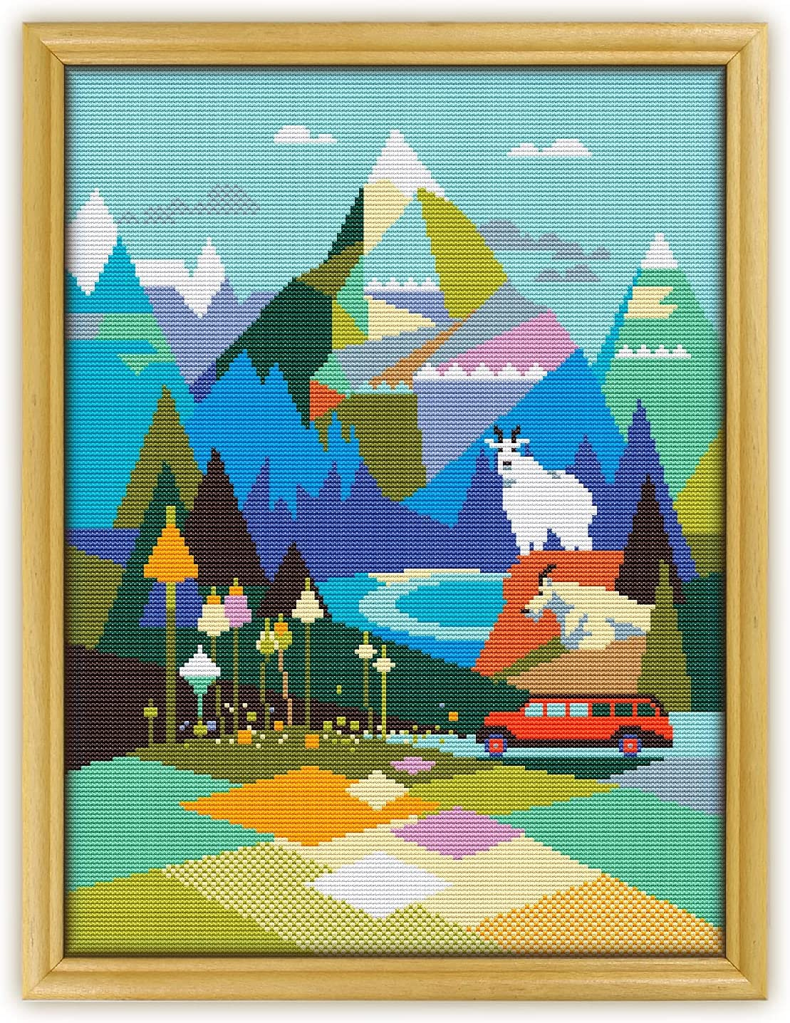 Glacier National Park Max 53% OFF Deluxe K335 Counted Stitch Cross KIT#3. Threads