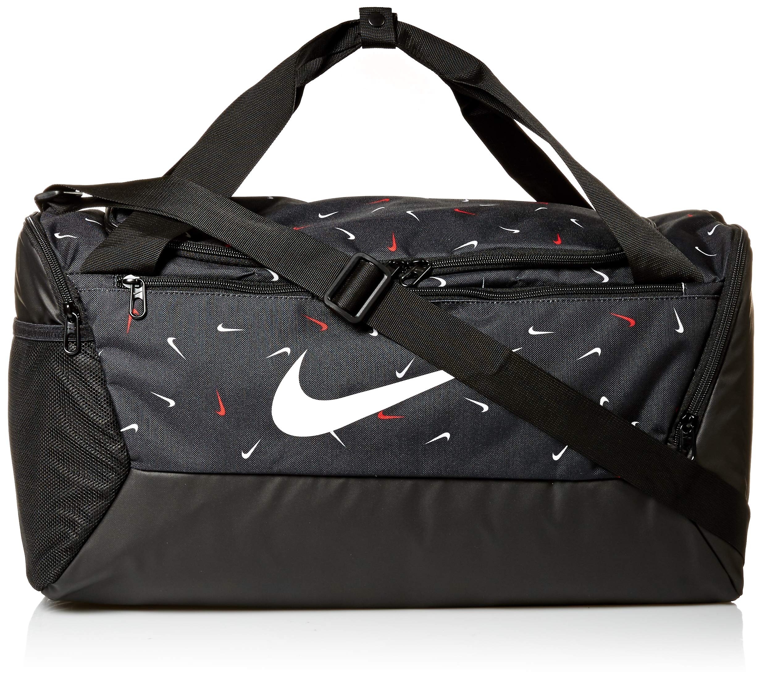 cuatro veces Hobart Para un día de viaje  NIKE Brasilia Small Duffel - 9.0 All Over Print 2, Black/Black/White, Misc:  Amazon.com.au: Sports, Fitness & Outdoors